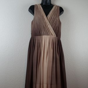 Talbots   Women's Lined Ombre Dress Sz 14P